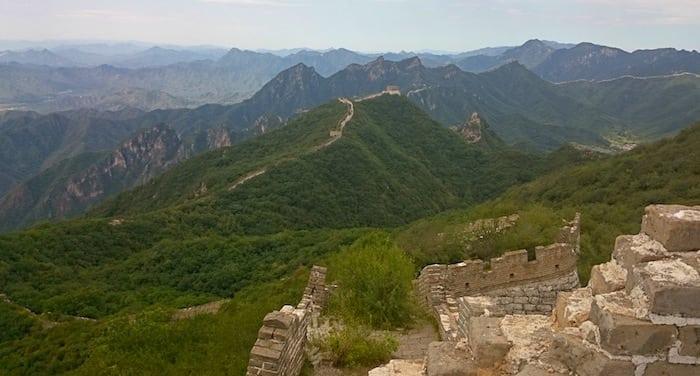 Il panorama da Jiankou