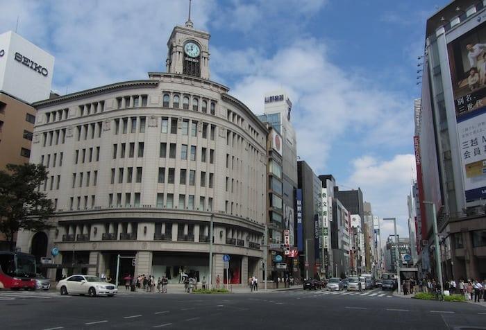 Il quartiere di Ginza