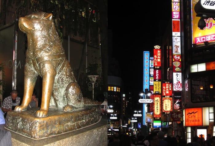 Il quartiere di Shibuya e la statua di Hachiko
