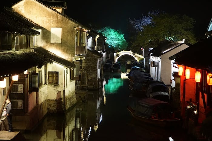 Zhouzhuang by night
