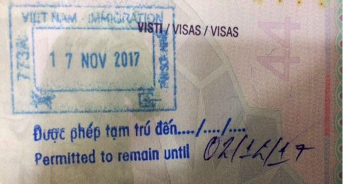 timbro passaporto vietnam
