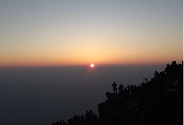 L'alba dal picco dell'imperatore di giada