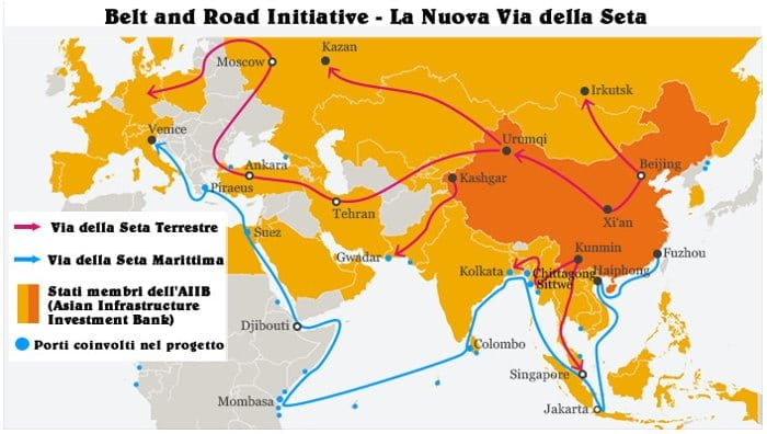 Mappa Belt and Road