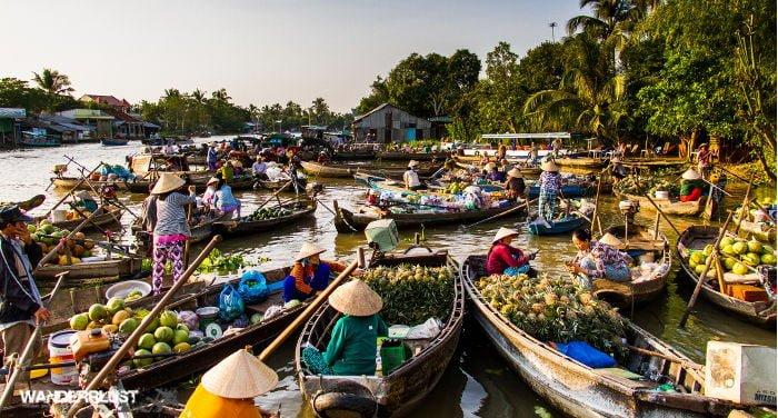 Viaggio lungo Delta del Mekong